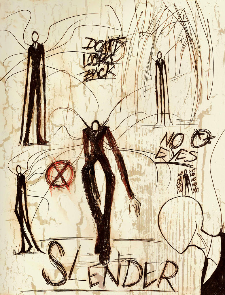 Slenderman doodles by tmntffnyp