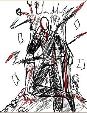 Slenderman Trono Iscribble by tmntffnyp