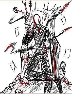 Slenderman Trono Iscribble by tmntffnyp