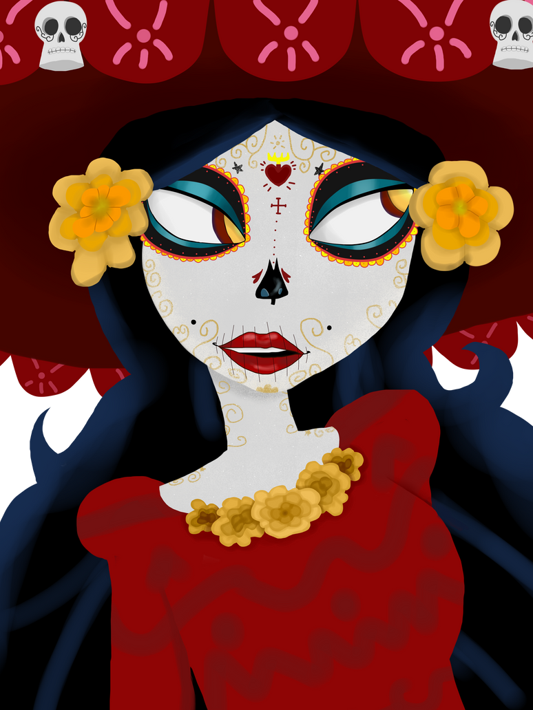 La Muerte Portrait by Overeaction1