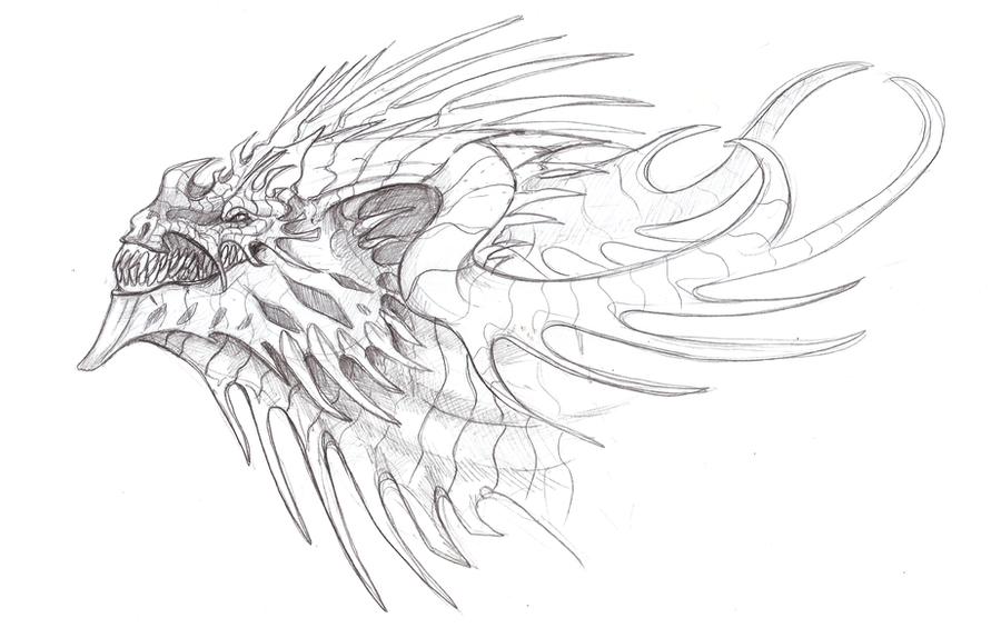 Dragon head by Dimenran