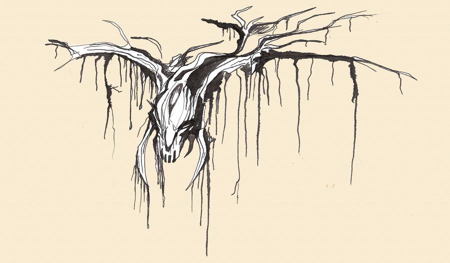 ink sketch by Dimenran