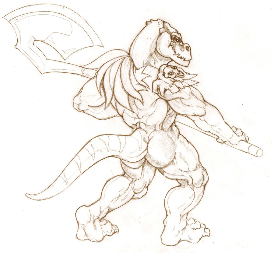 Commission 4 for Azleah44 Dino sketch by Dimenran