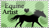 Equine Artist Stamp by Black-Heart-Always