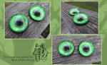 FOR SALE - Vividly Wicked hand painted resin eyes by Black-Heart-Always