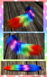SOLD Rainbow Yarn Tail