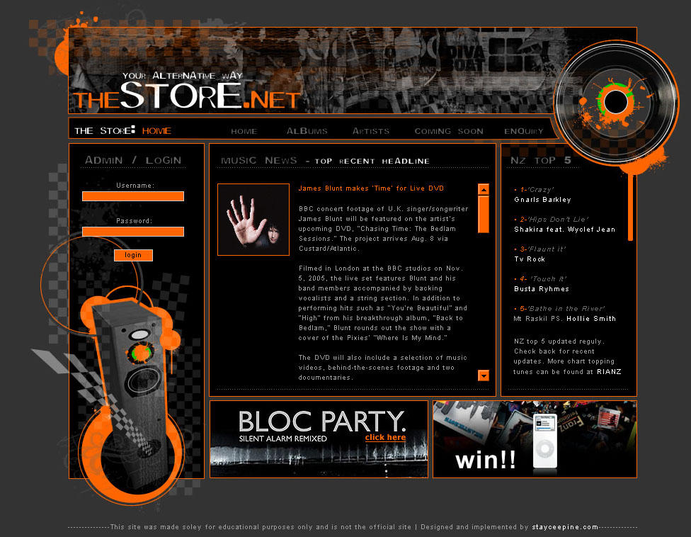 alternative style web design by bauerbabe02