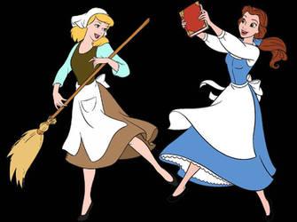 Belle x Cinderella: Dancing by MermaidMelodyEdits