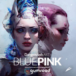 Painting tutorial: PINK and BLUE
