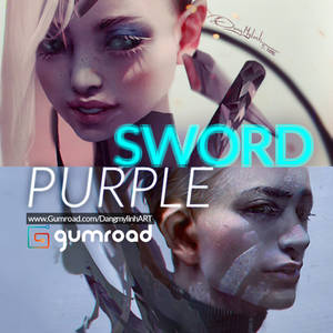 Painting tutorial: SWORD and PURPLE