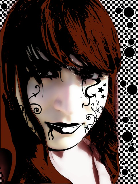 Nanda's Face Vector by valessiobrito