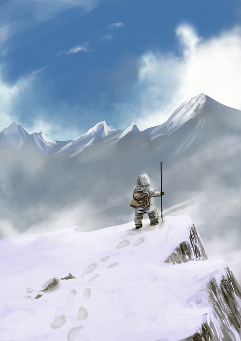 speed painting: snow mountain by khanshin