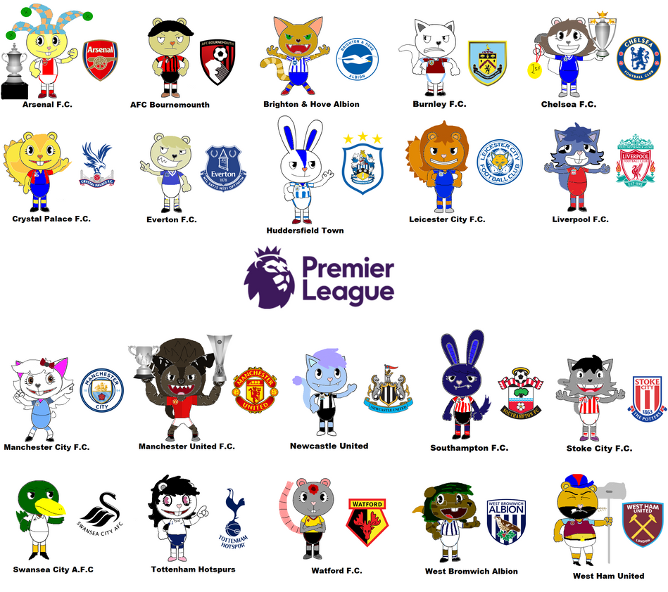 English Premier League 2017/2018 by Gabo2334