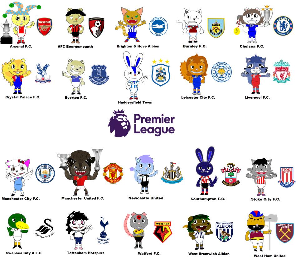 English Premier League 2017/2018 by Gabo2334