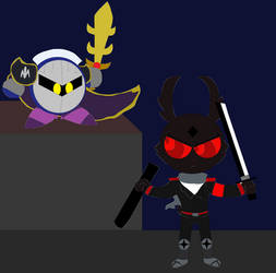 Meta knight vs Dark rabbit by Gabo2334