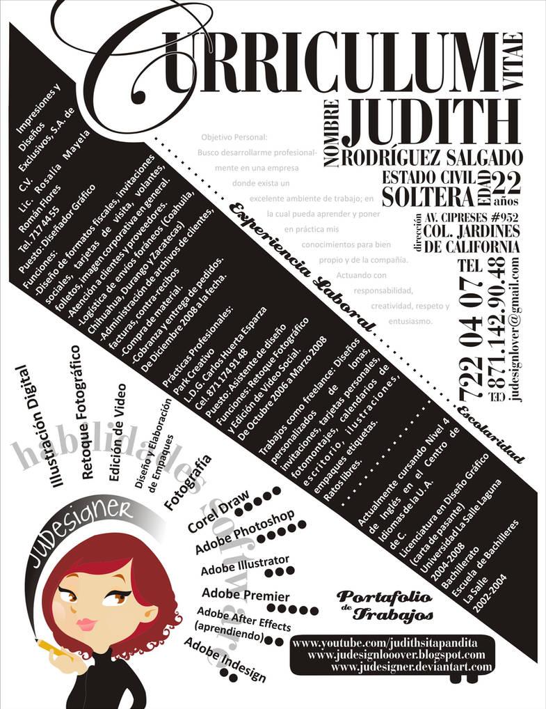 my resume by JuDesIgnEr
