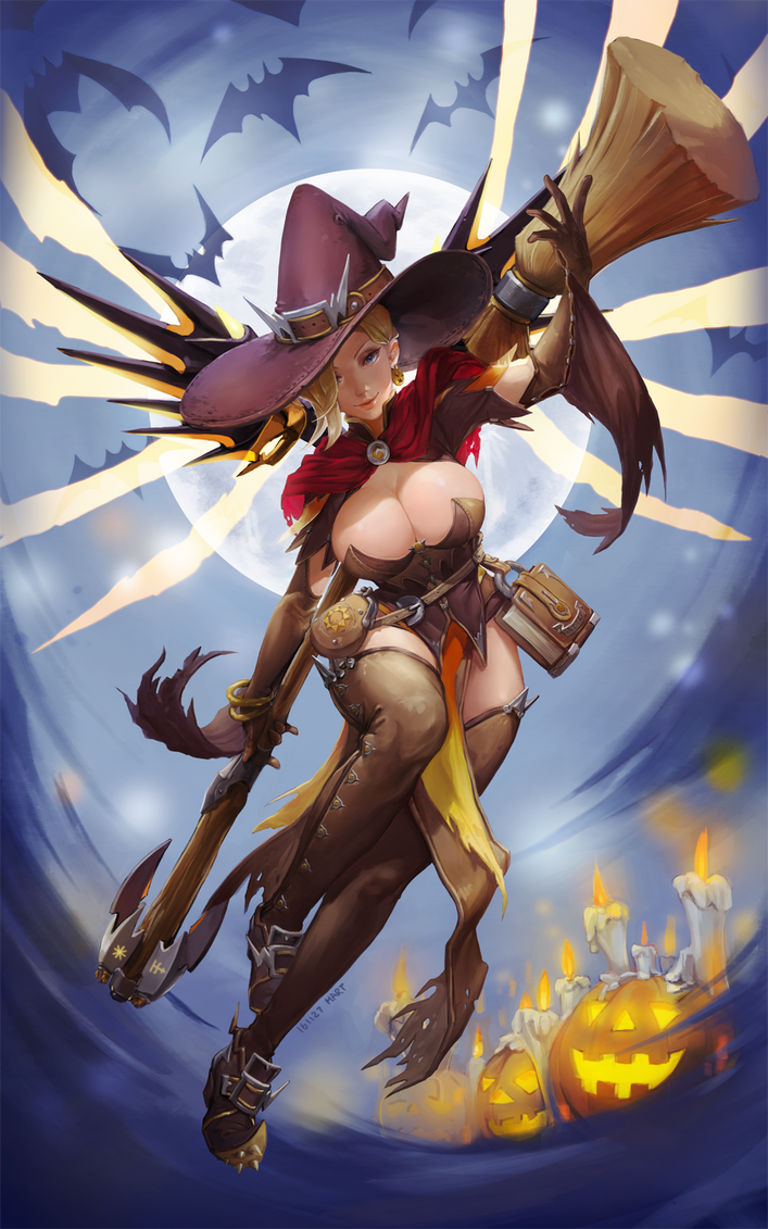 Mercy Halloween skin ver. by ghtnh5110 on DeviantArt