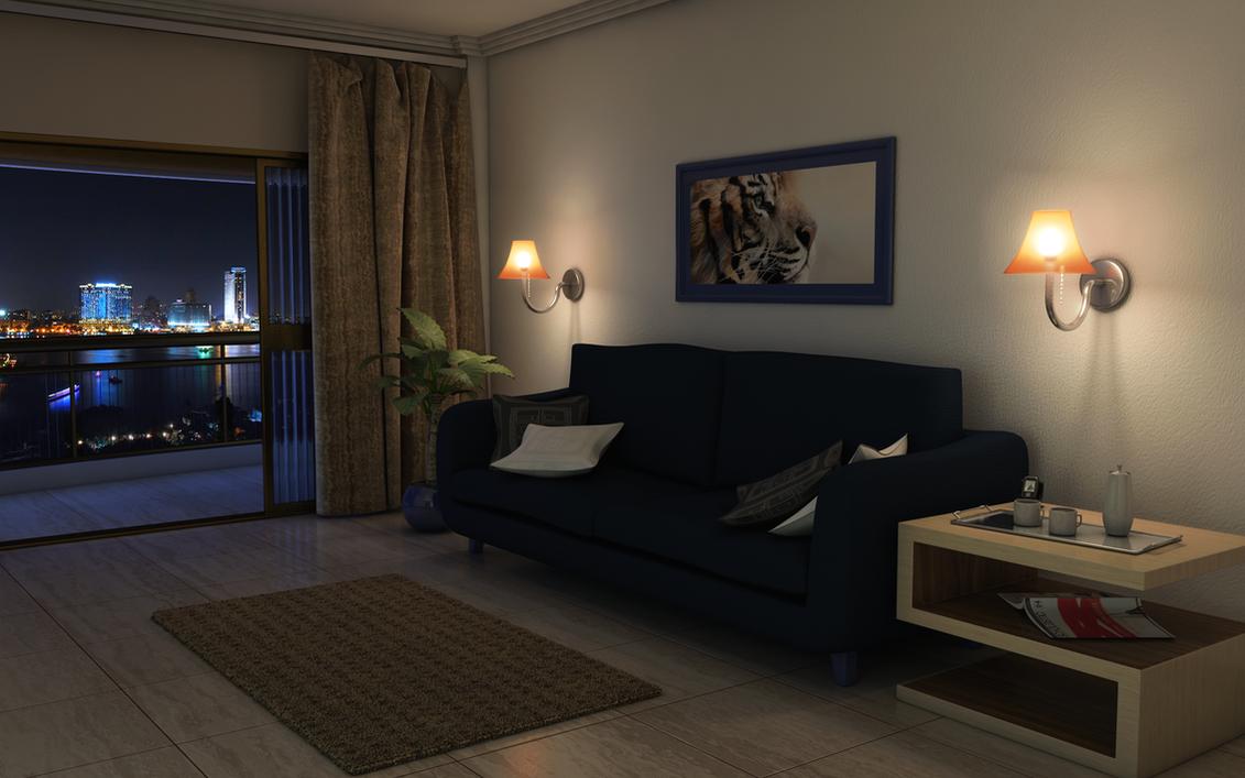Basic Night Livingroom By TwinShock