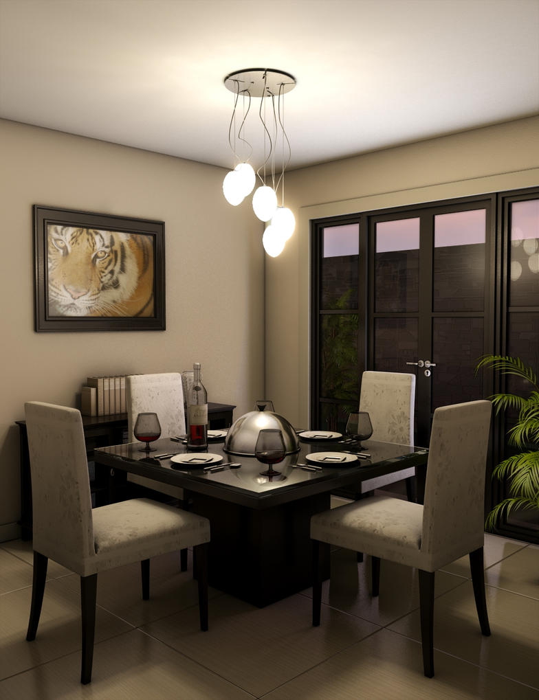 simple dining room by twinshock on deviantart