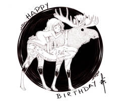 -Happy Birthday Moosekleenex by hypheen
