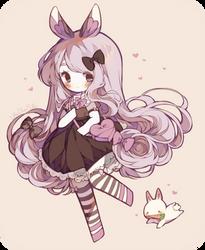 [ C ] Heart Bunny by LittleBlueMuffin