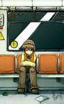 Alone in the subway by LazyTurtle