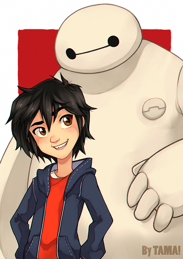 Hiro and Baymax by LazyTurtle