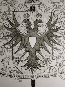 Albania crest Eagle detail