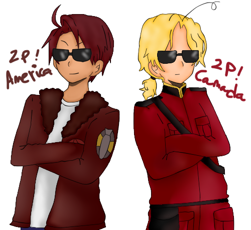America 2p and Canada 2p by SpanishPandaHero