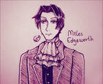 Ace Attorney | Miles Edgeworth | Inktober Day 25