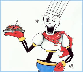 Undertale | Papyrus | Inktober Day 14 by SpanishPandaHero
