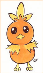 Pokemon | Torchic | Inktober Day 19 by SpanishPandaHero