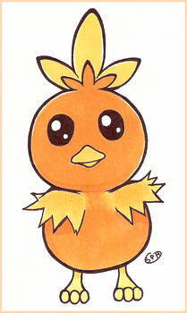 Pokemon | Torchic | Inktober Day 19