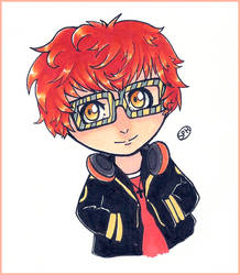 Mystic Messenger | 707 | Inktober Day 18 by SpanishPandaHero