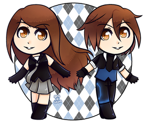 UTAU | Tekioto Naomi and Tsugioto Alex | Chibi by SpanishPandaHero