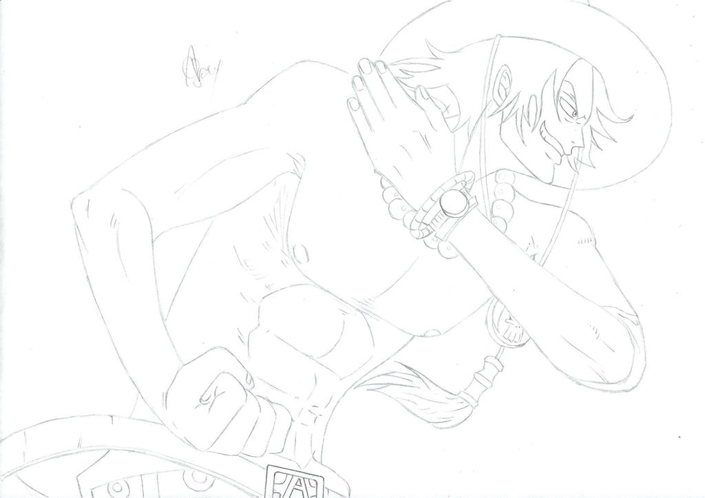 One Piece Lineart : Smoker one piece lineart by patapez on deviantart