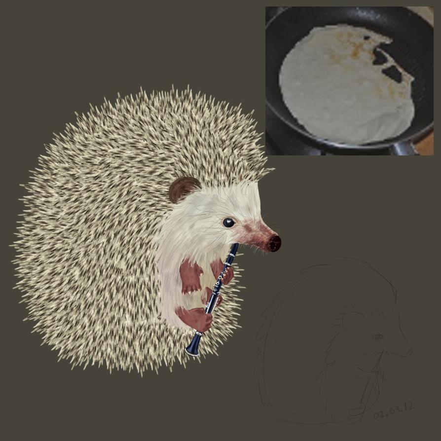 hedgehog playing clarinet by jakethemuffincake on deviantart