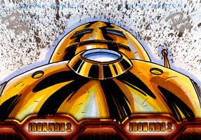 IM2 Sketch Cards: Gold Avenger by FrankRapoza