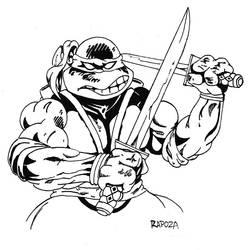 80's Flashback TMNT Leonardo by FrankRapoza