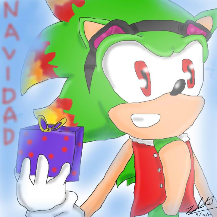 Manuel the hedgehog Navidad by Mizuki247