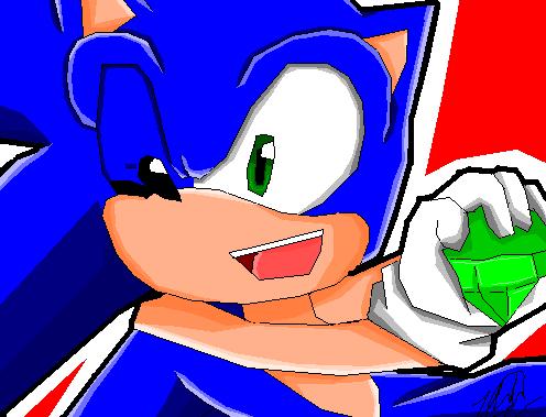 Sonic with esmerald by Mizuki247