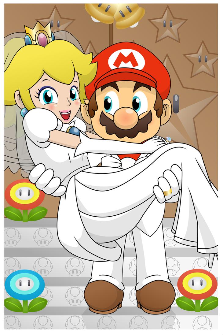 Mario x Peach Wedding Card by PrinnyAniki on DeviantArt