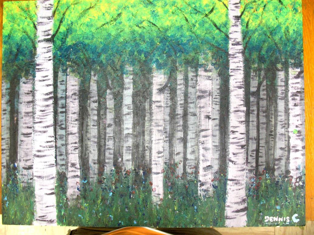 birch tree wallpaper traditional - photo #15