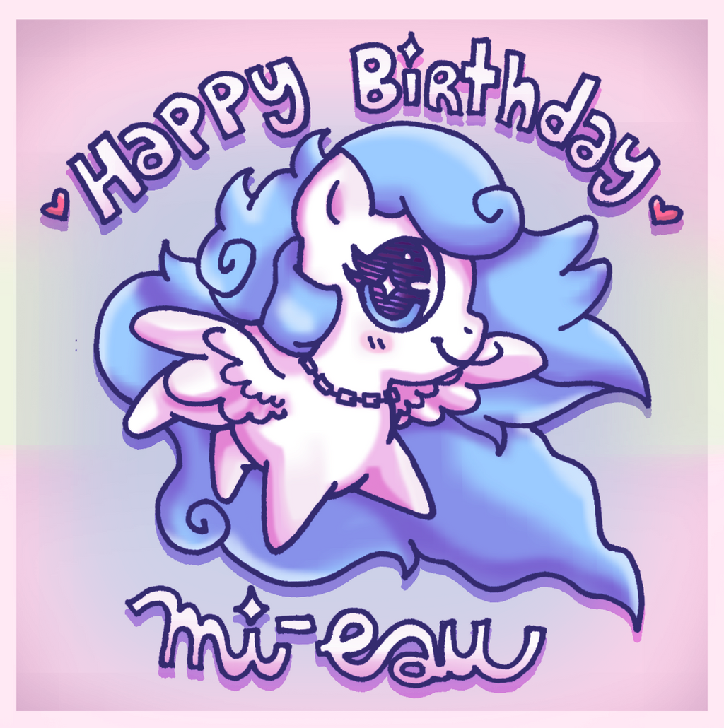 Happy Birthday, Mi-eau! by foxgirlKira
