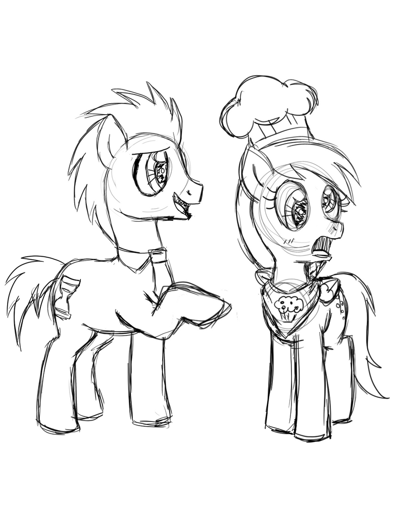 DrawponiesContest TimingAidSketches P4 by foxgirlKira