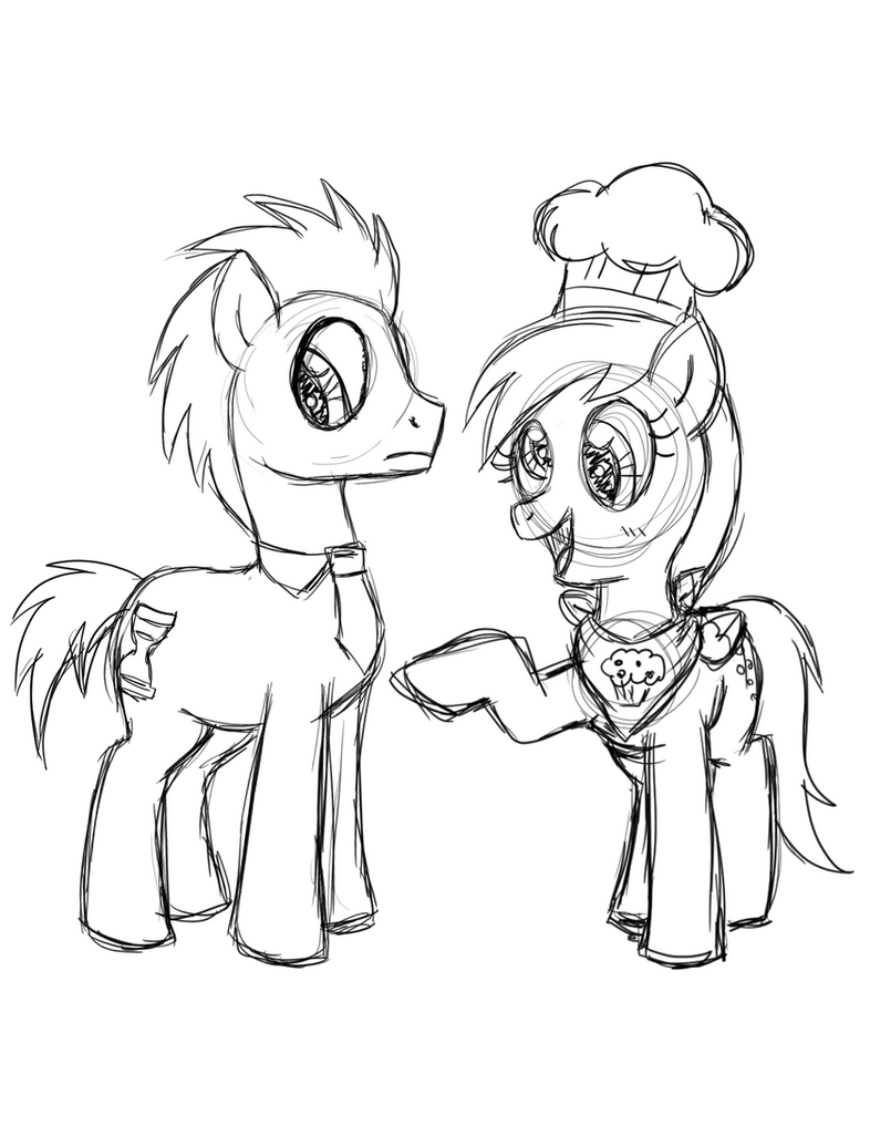 DrawponiesContest TimingAidSketches P3 by foxgirlKira