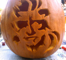 Snake pumpkin by badwhitney