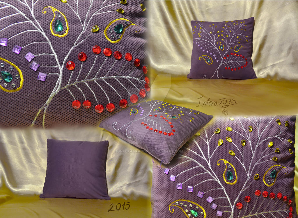 pillowcase with berries by InferaDragon