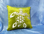 Pillow case Sea turtle by InferaDragon