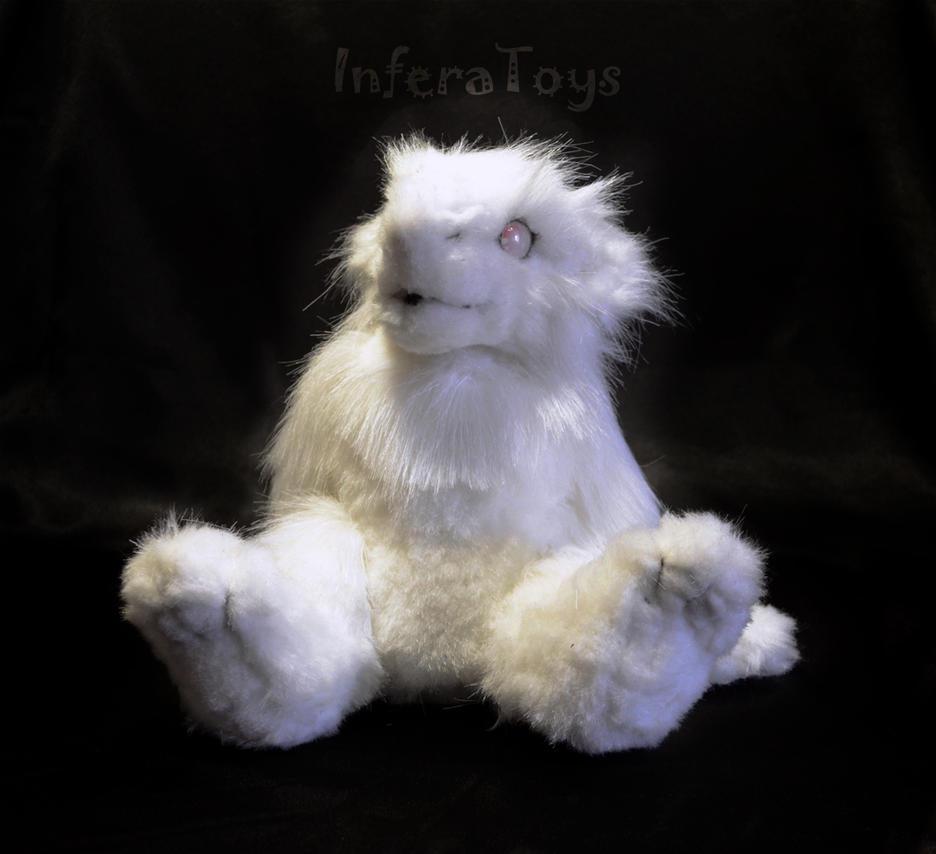 Albino sergal - Custom Plush by InferaDragon